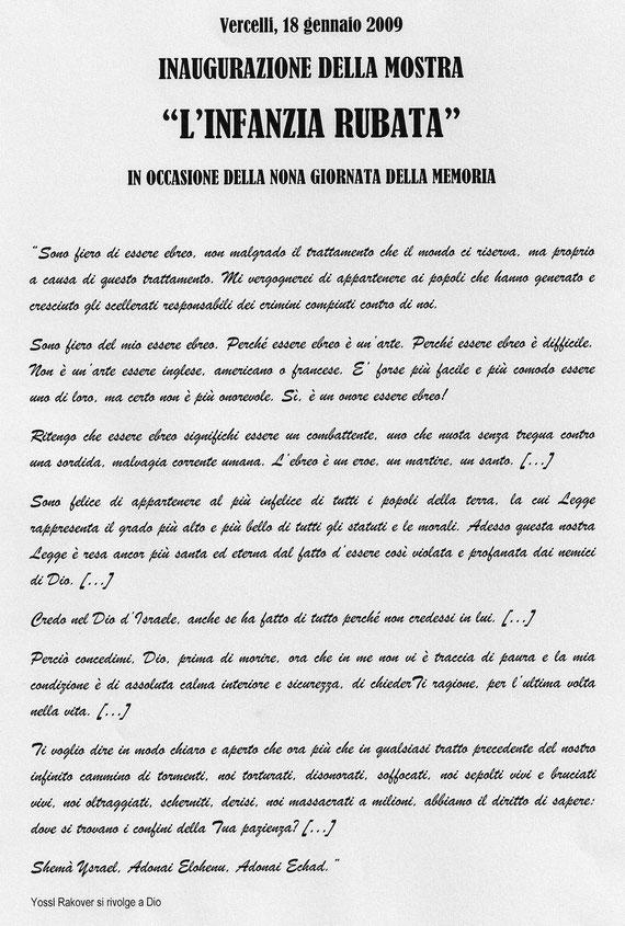 Il discorso di Marco Ricciardiello