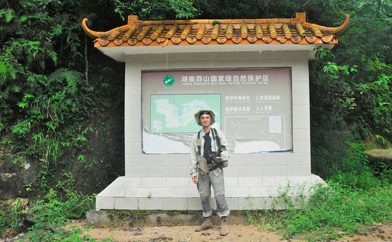 Dans la réserve naturelle consacrée à la fabuleuse vipère de Mangshan.  Juillet 2016, Chine. ©Zhang Wei/Michel Aymerich