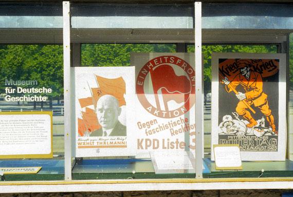 Affiches exposées au Musée d'histoire allemande © Michel Aymerich