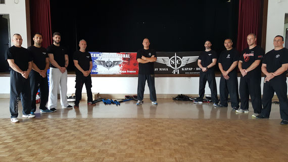 STAGE INSTRUCTEURS KRAV-MAGA + VALIDATION DIF EXAMEN VAE  BLOIS JUIN 2016