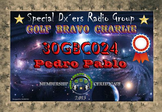 Certificado como miembro del Grupo