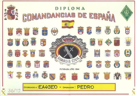 Diploma Permanente de Comandancias de la Guardia Civil (2012)
