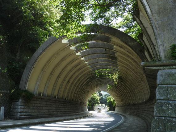 9月の巨福呂坂洞門