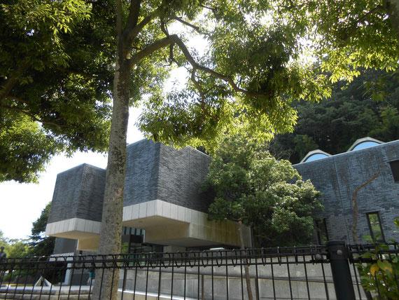鎌倉街道からみる、夏の樹木に囲まれた鎌倉別館。 これ気に入っています。