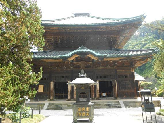 仏殿、正面。1647年に芝増上寺より、崇源院の霊屋を移築 重要文化財