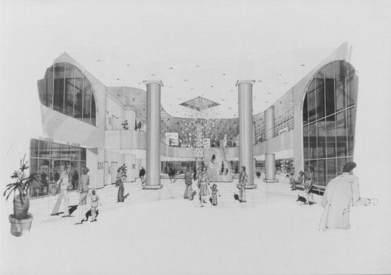 ディプロマ設計案「市民プラザ」 2階ホール