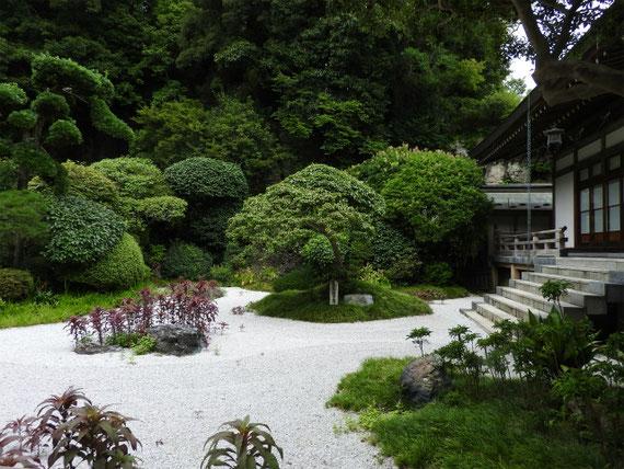 迦葉堂裏の古山水庭園