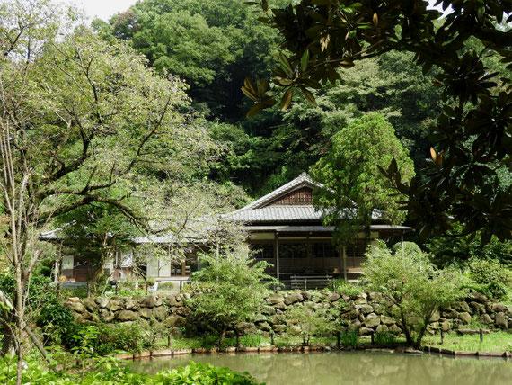 回春院と大覚池