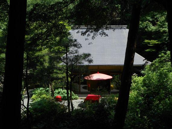 茶室・月笑軒。風情があり思わず見入ってしまいました。 日本だよね!