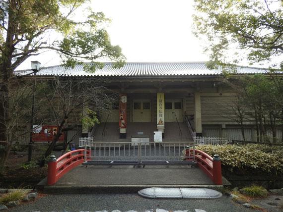 開館前の、鎌倉国宝館正面