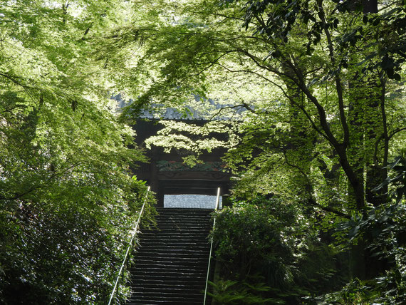 参道の石段~二天門へ