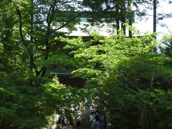 円覚寺山門への石段