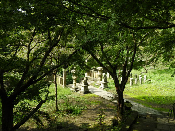 半僧坊中腹の墓所