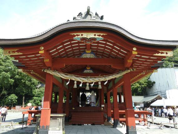鶴岡八幡宮、舞殿での祝言