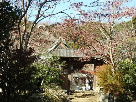 山門横の、通用門