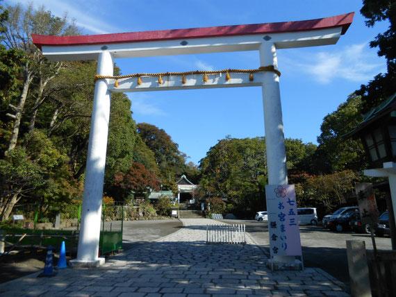 鎌倉宮鳥居 11月