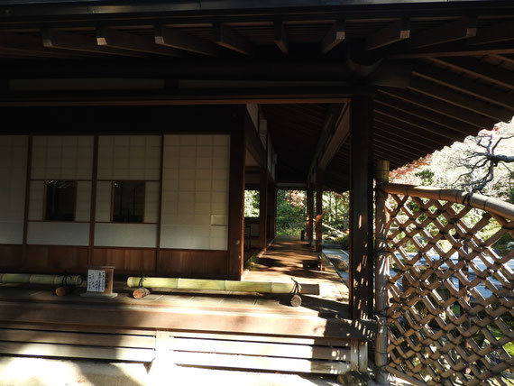 茶室 喜泉庵の外廊下