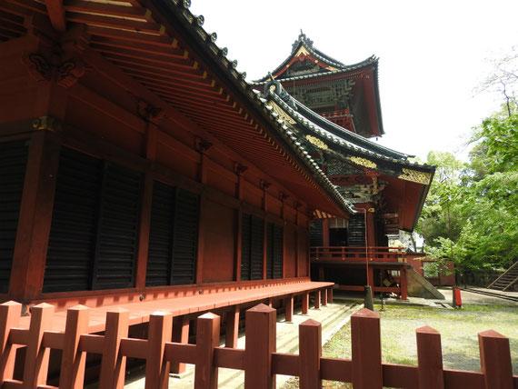 大拝殿(重文)北回廊から
