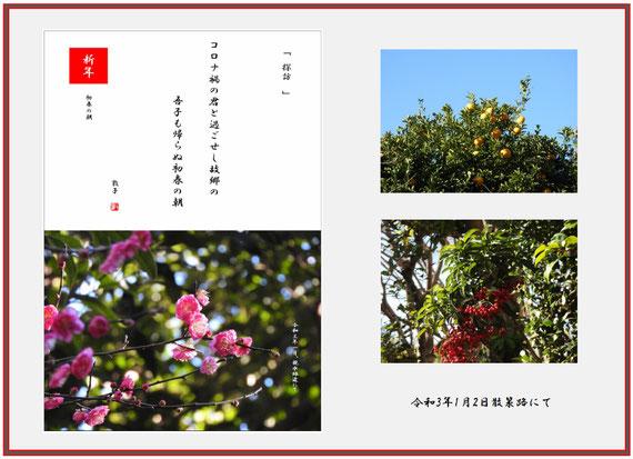 初春の朝 2021/01/02制作