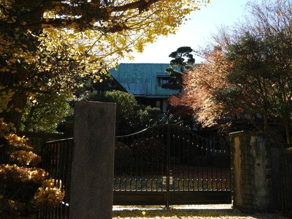 旧華頂宮邸の正門