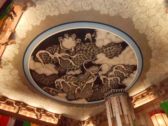 建長寺 法堂 天井図、 小泉淳作画伯の雲龍図