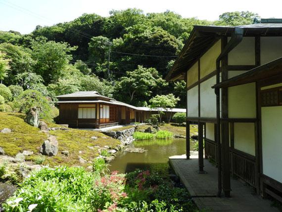 本堂裏の、禅宋風の山水庭園 非公開