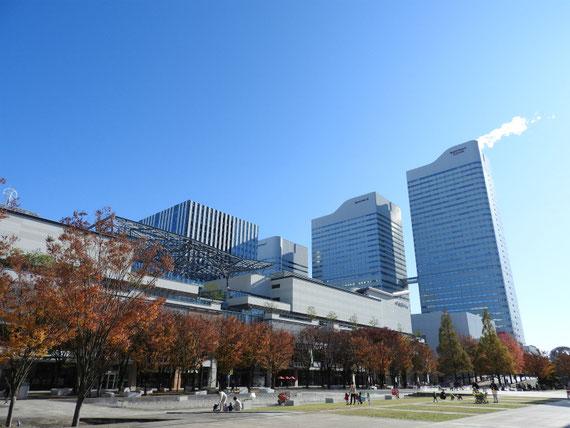 横浜美術館からみる、MARK IS みなとみらい