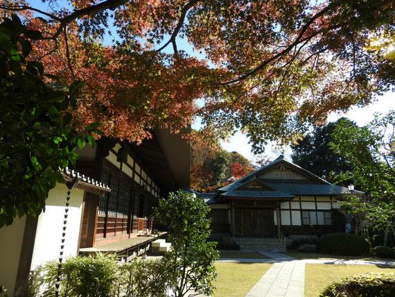 浄妙寺本堂と庫裡 12月