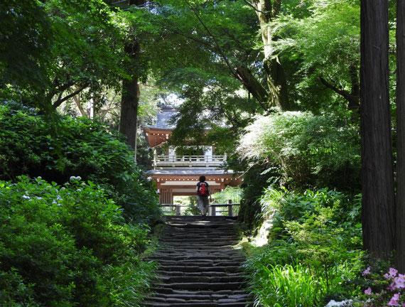 途中の浄智寺の鐘楼門