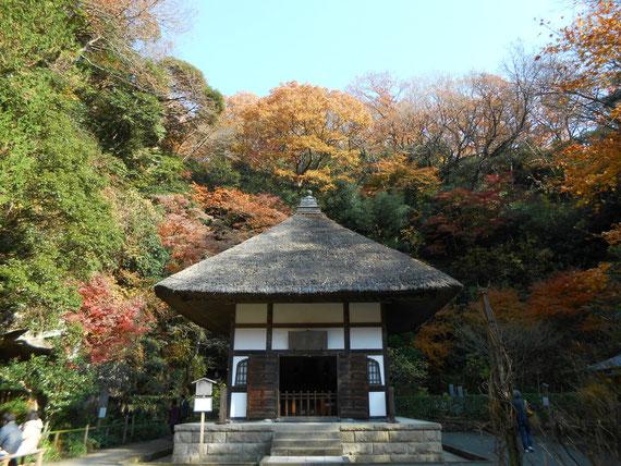 開山堂の紅葉