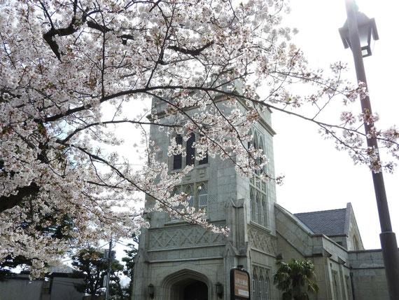 山手聖公会の塔