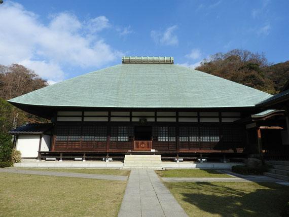 晩秋の鎌倉浄妙寺本堂
