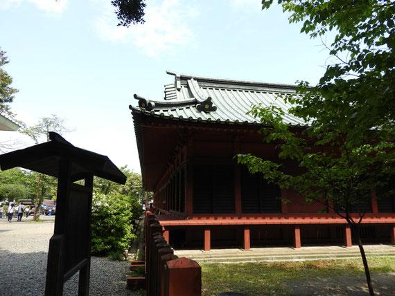 北回廊(重文)玉鉾神社からみる
