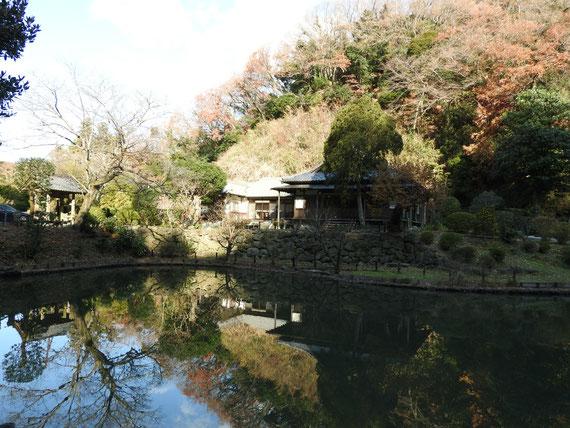 大覚池から観る本堂