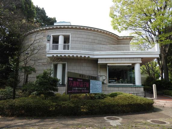 神奈川近代文学館、展示棟 入り口