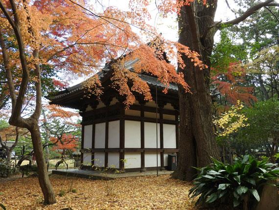 右側面の旧天瑞寺寿塔覇堂