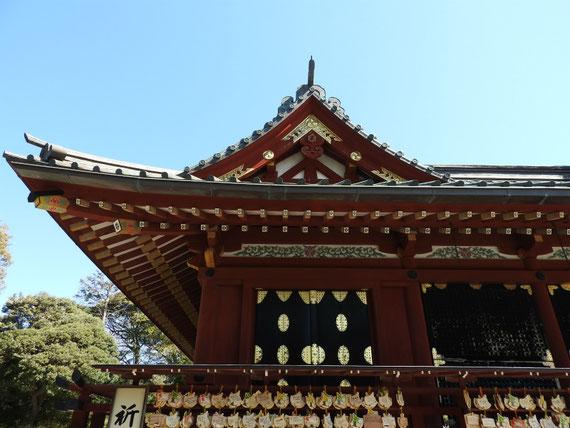 鶴岡八幡宮本宮の屋根