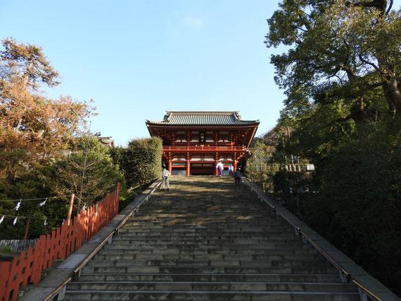 鶴岡八幡宮、本宮と石段