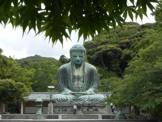 銅造阿弥陀如来像、鎌倉大仏正面