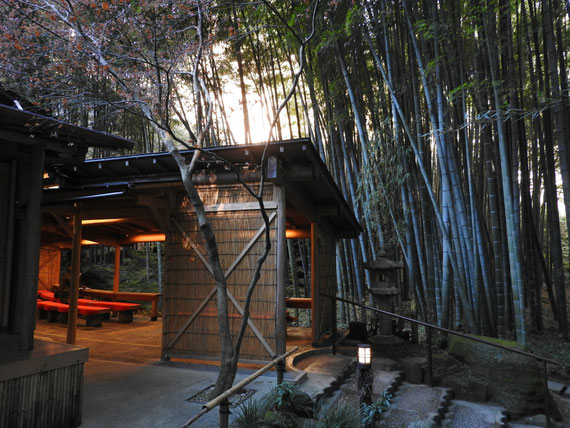 竹の庭の奥にある、茶屋 「休耕庵」