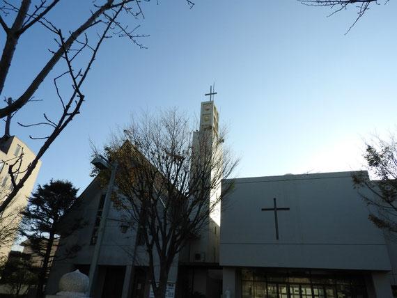 段葛横の、カトリック雪ノ下教会