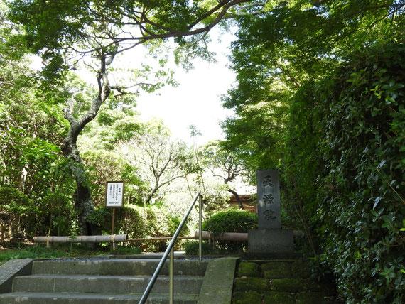 建長寺方丈の横道の石段を上ると、天源院の門に行きつきます
