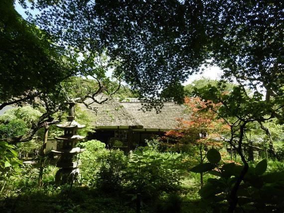 浄智寺 書院・客殿と前庭に風景