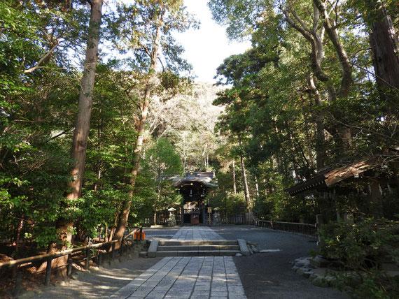 境内から、白旗神社へ