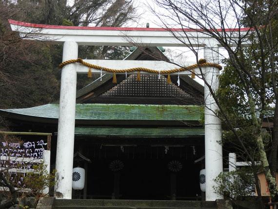 鎌倉宮 本殿と鳥居