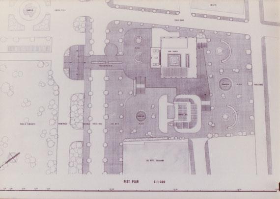 ディプロマ設計案「市民プラザ」 配置図