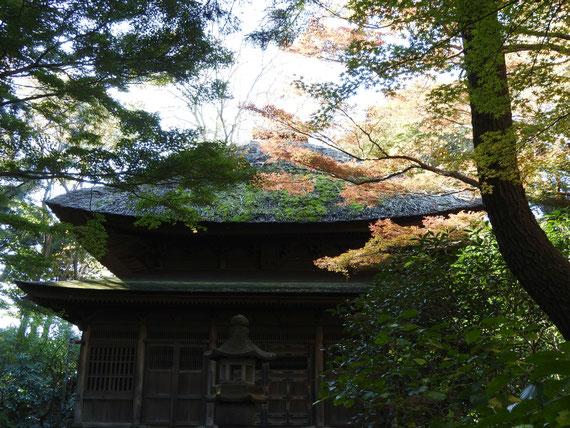 紅葉の仏殿