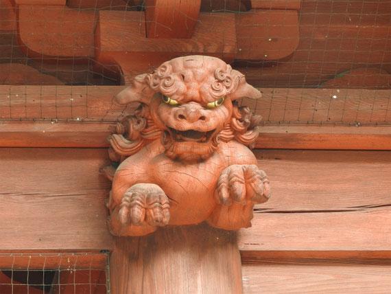 二天門の彫刻