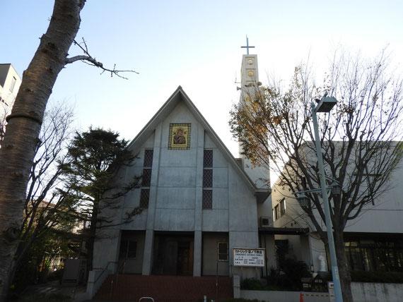 カトリック雪ノ下教会正面