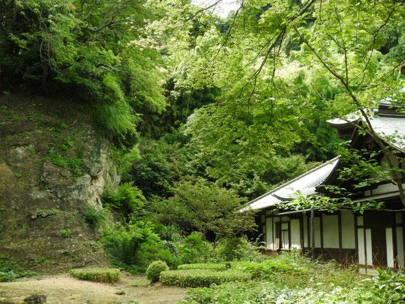 本堂、方丈裏の庭園